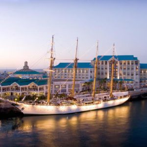 Exterior of Table Bay Hotel and the Victoria Alfred Waterfront